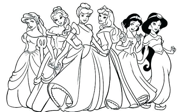 600x371 Cinderella Pumpkin Coach Coloring Pages Good Princess Kids Prince