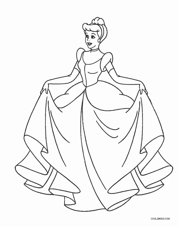 624x794 Free Printable Cinderella Coloring Pages For Kids