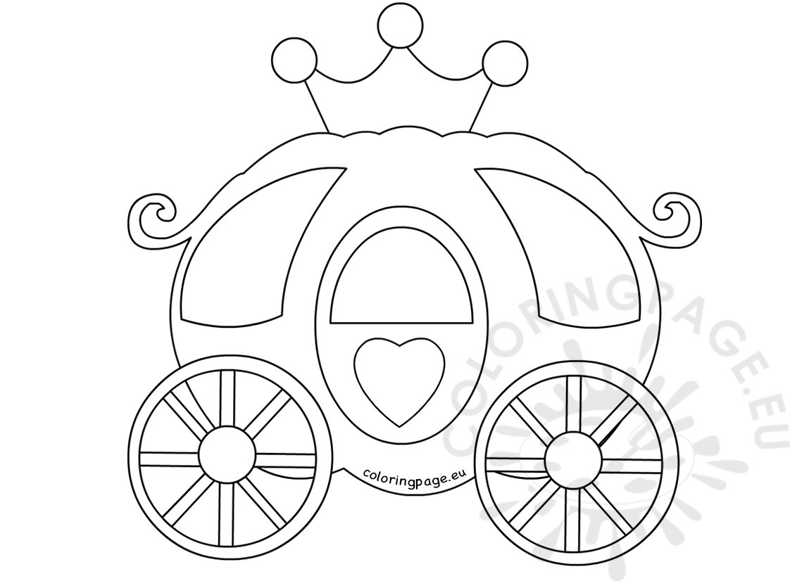 1122x826 Pumpkin Carriage Coloring Book Coloring Page