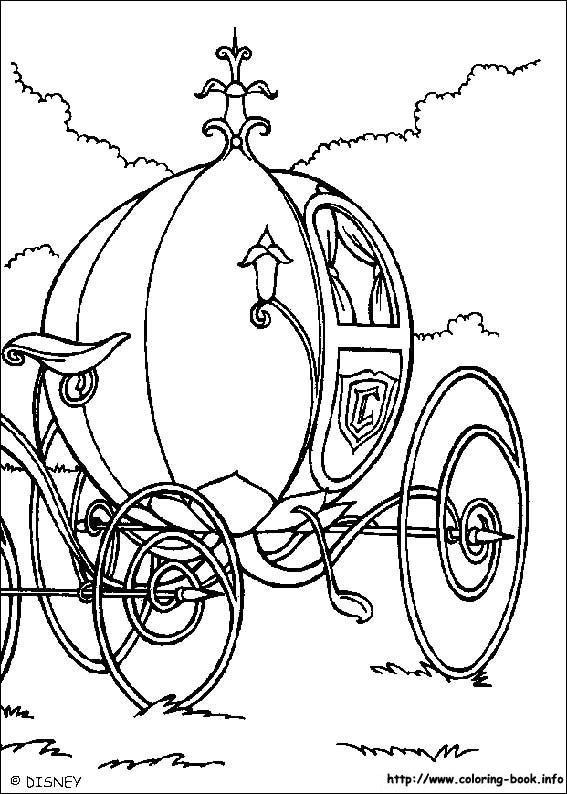 567x794 Pumpkin Carriage Coloring Page For Silhouette, Printable