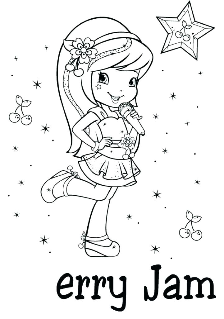 721x1024 Strawberry Shortcake Coloring Pages