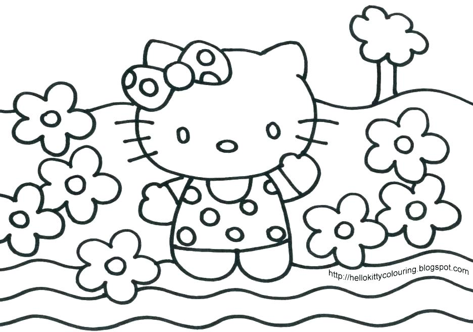 936x656 Halloween Cat Coloring Page Free Printable Hello Kitty Coloring