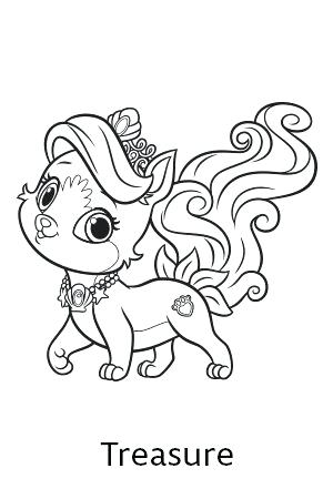 300x450 Princess Cat Coloring Pages Princess Palace Pets Free Coloring