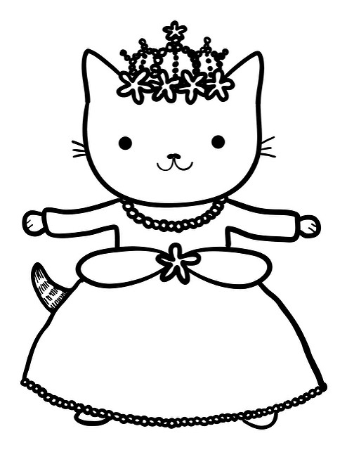 494x640 Princess Cat Coloring Pages Anime Kitten Coloring Pages Alltoys
