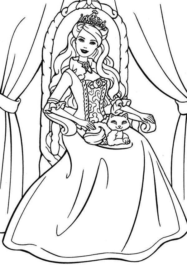 600x849 Princess Cat Coloring Pages Princess Cat Coloring Page Coloring