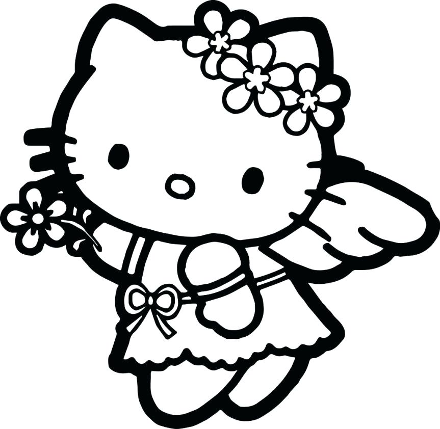 863x842 Princess Hello Kitty Coloring Pages Adult Hello Kitty Coloring