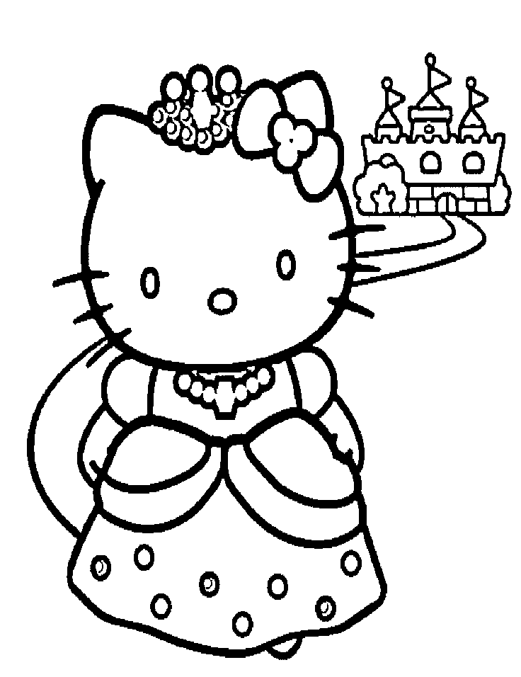 736x956 Princess Hello Kitty Coloring Pages Ekids Pages