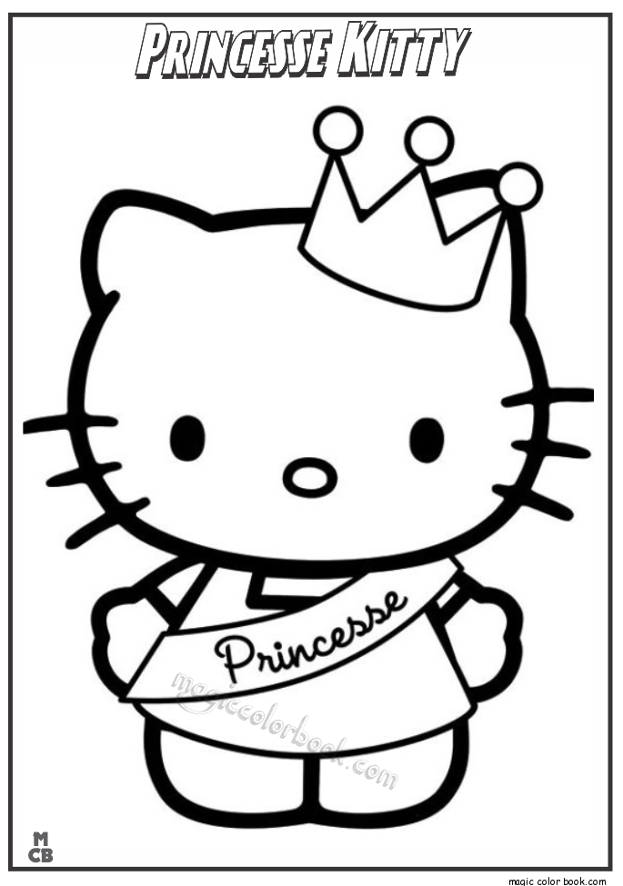 685x975 Princess Kitty Coloring Pages
