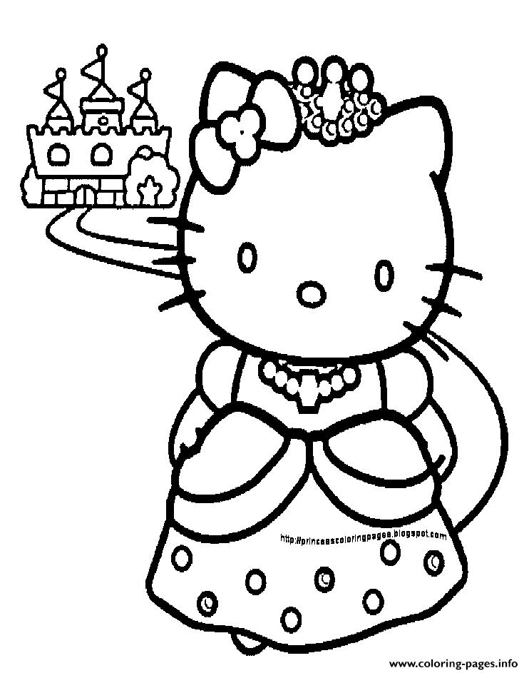 742x943 Print Princess Hello Kitty Coloring Pages Princess Coloring