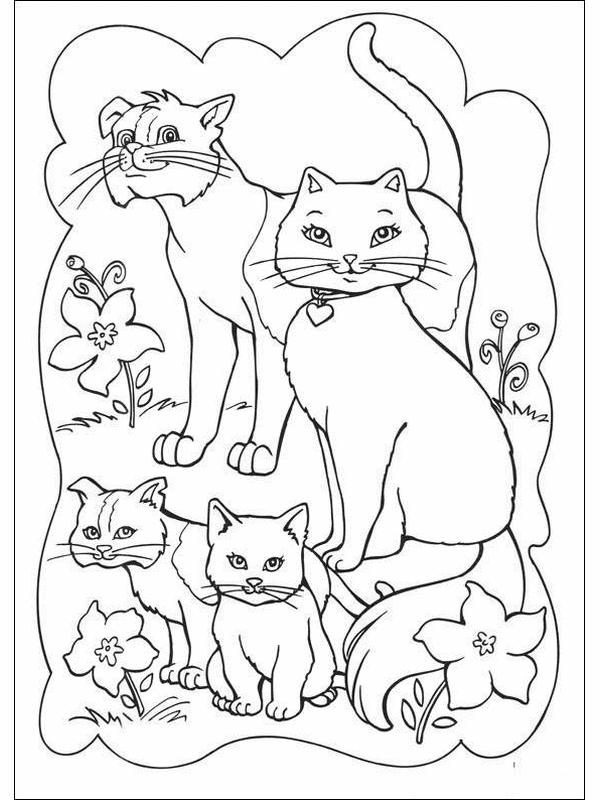 600x800 Barbie Princess Cat Coloring Pages Big