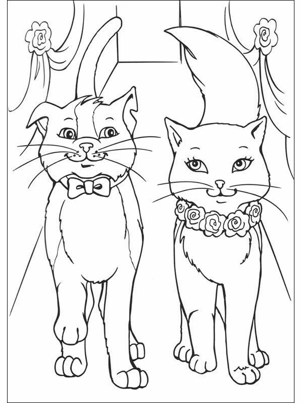 600x800 Cat Princess Coloring Pages Coloring Book Pages To Print Barbie