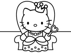 Princess Cat Coloring Pages At Getdrawings Com Free For Personal