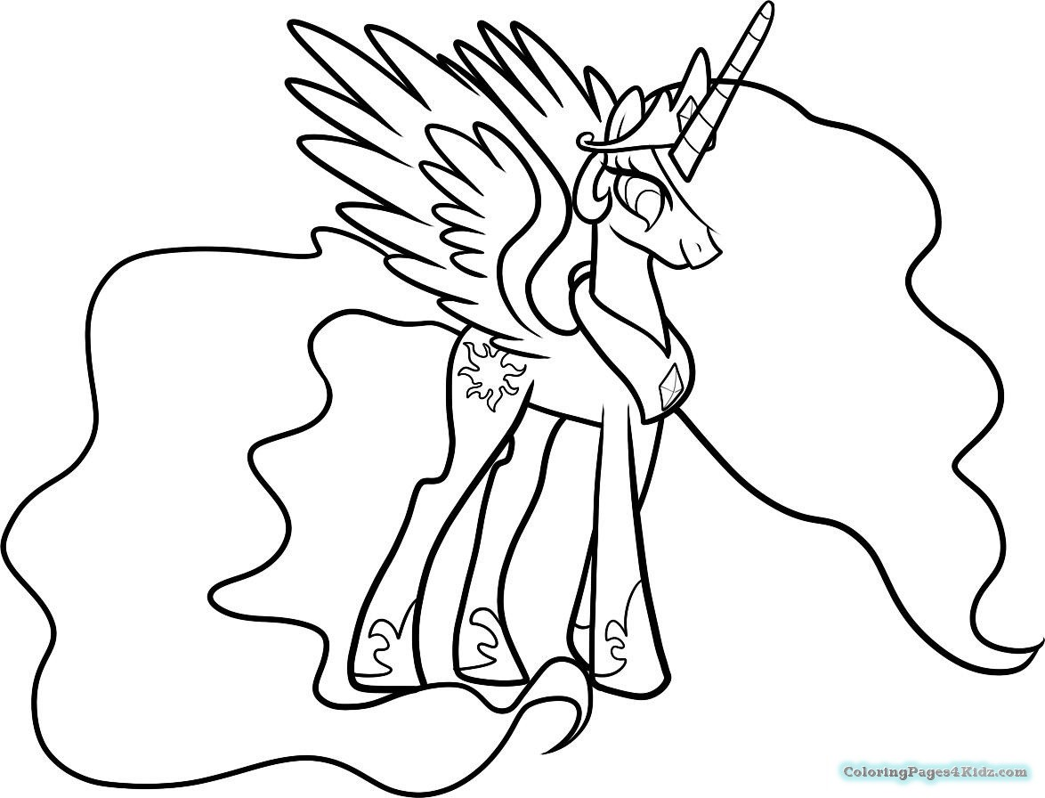 1174x896 My Little Pony Coloring Pages Princess Celestia And Luna