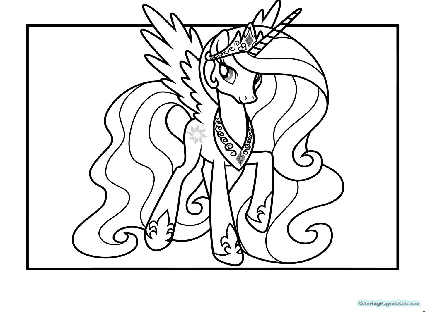 1451x1067 My Little Pony Princess Celestia Coloring Pages Coloring Pages