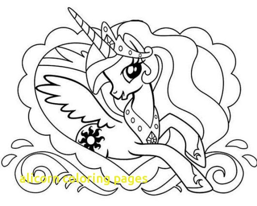 530x425 Alicorn Coloring Pages With Princess Celestia Coloring Pages