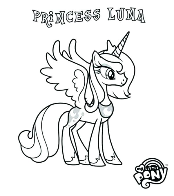 600x676 My Little Pony Princess Celestia Coloring Pages My Little Pony