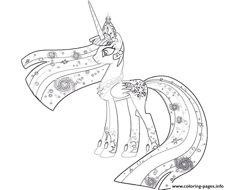 800x667 My Little Pony Princess Celestia Coloring Pages Printable