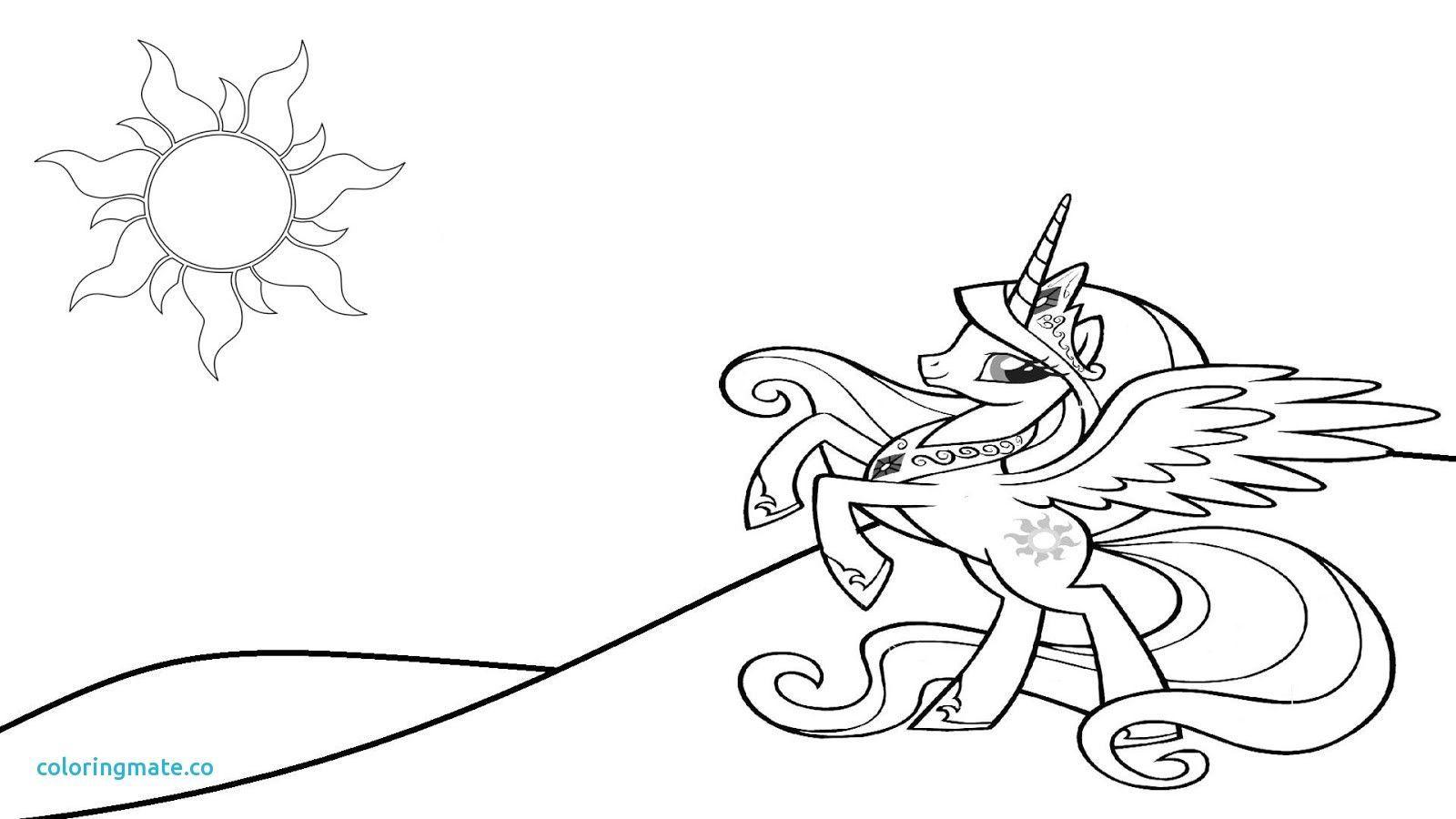 1600x900 Princess Celestia Coloring Page