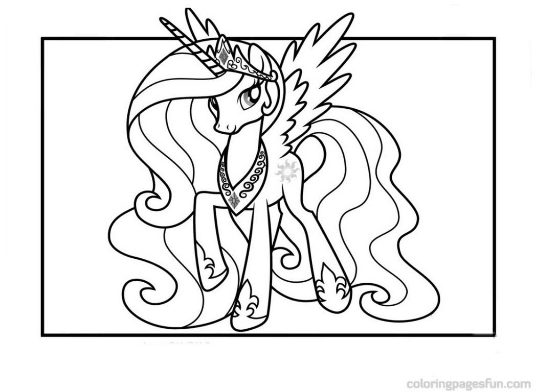 1048x768 Mlp Princess Celestia Coloring Pages