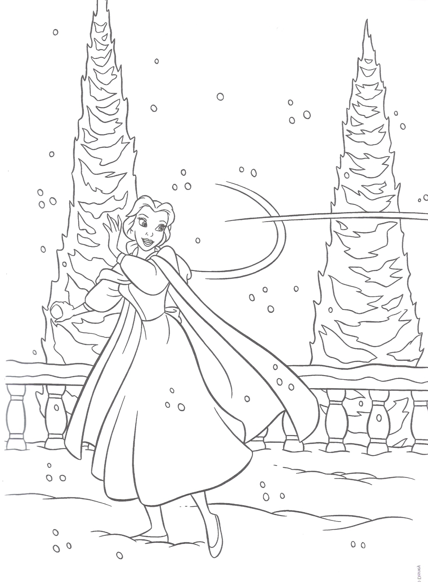 Princess Christmas Coloring Pages At Getdrawings Com Free For