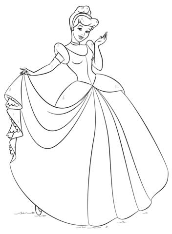352x480 Cinderella Coloring Page Cinderella Category Select