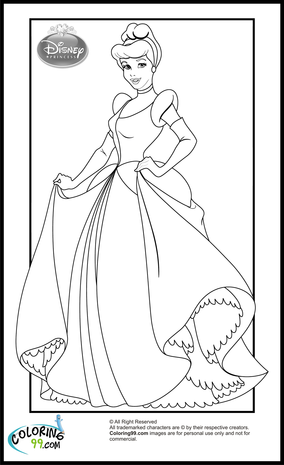 980x1600 Disney Princess Cinderella Coloring Pages Minister Coloring