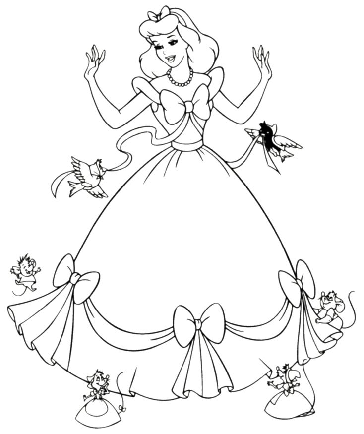 734x875 Free Printable Cinderella Coloring Pages For Kids Free Printable