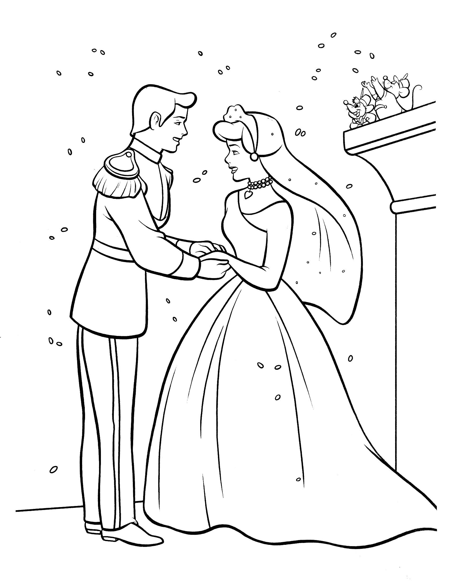 1700x2200 Princess Cinderella Coloring Pages Printable