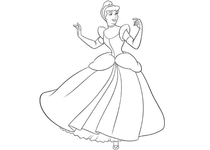 700x500 Princess Cinderella Coloring Pages