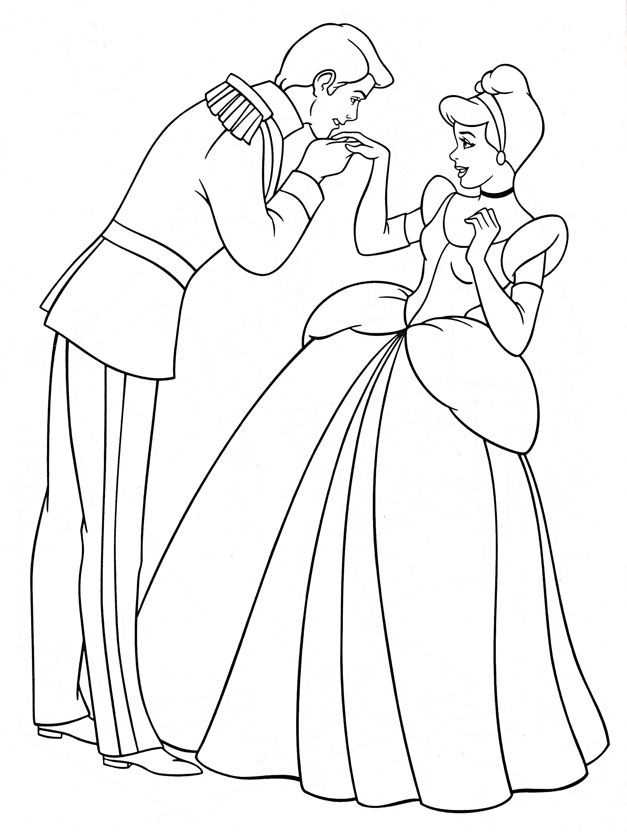2136x2836 Walt Disney Coloring Pages Prince Charming Princess, Cinderella