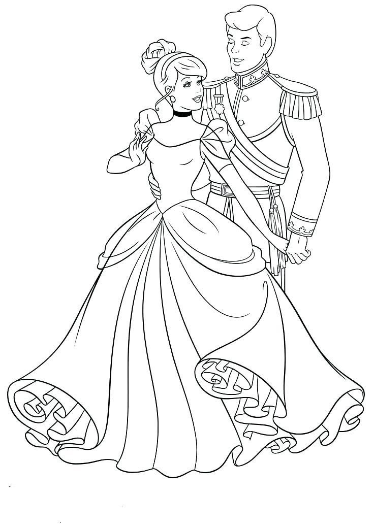 736x1040 Cinderella Coloring Pages Disney