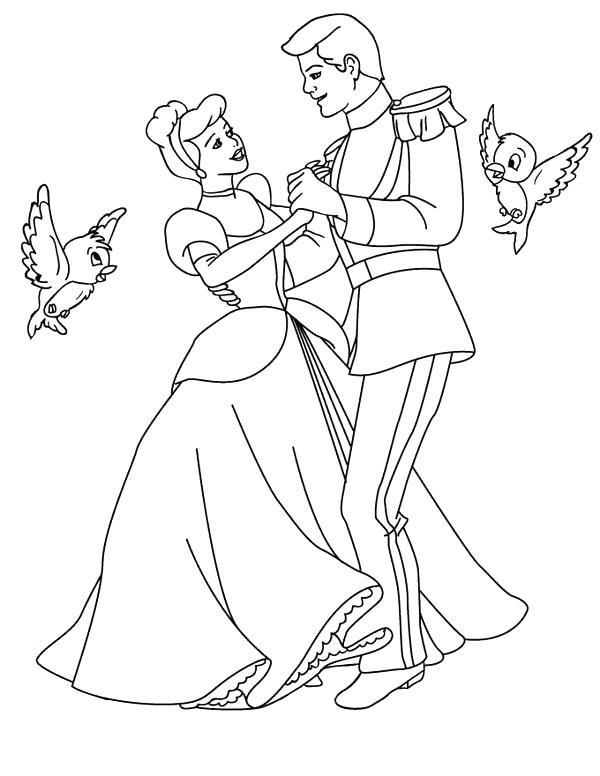 600x776 Printable Cinderella Coloring Pages