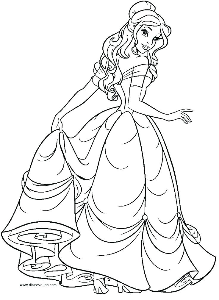736x1008 Belle Coloring Pages Belle Coloring Sheet Princess Belle Free