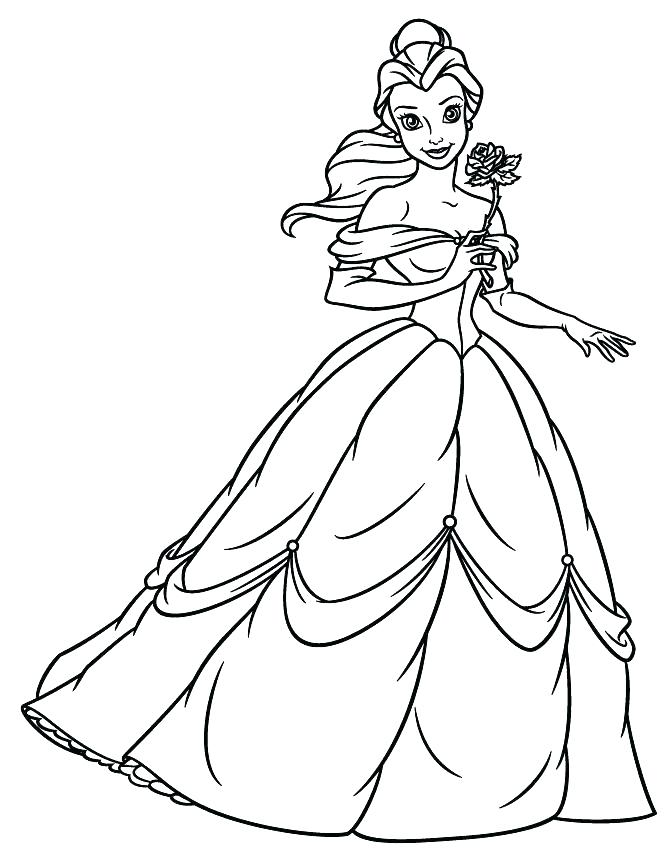 670x867 Disney Belle Coloring Pages Bell Coloring Page Bell Coloring Page
