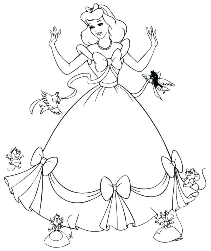 734x875 Free Princess Coloring Pages Princess Coloring Book Also Princess