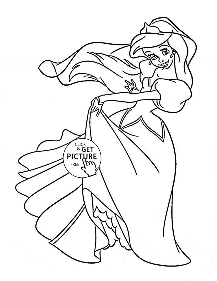 736x952 Best Disney Princess Coloring Pages Images