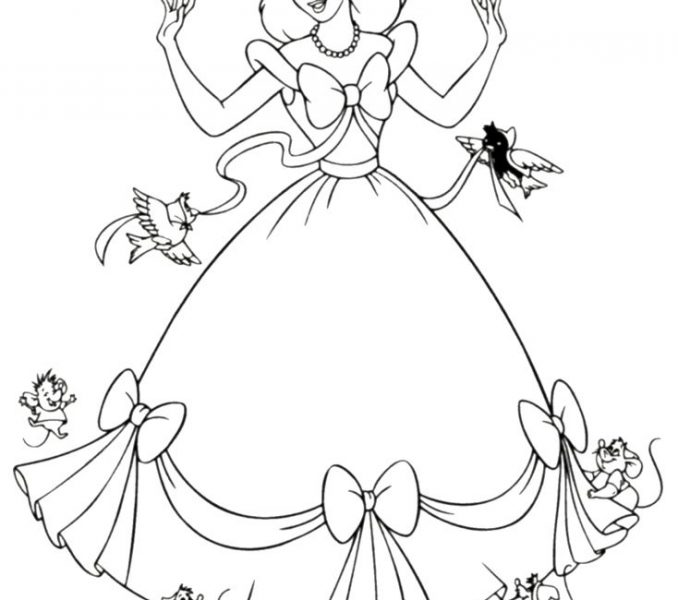 678x600 Free Princess Colouring Pages Coloring Page