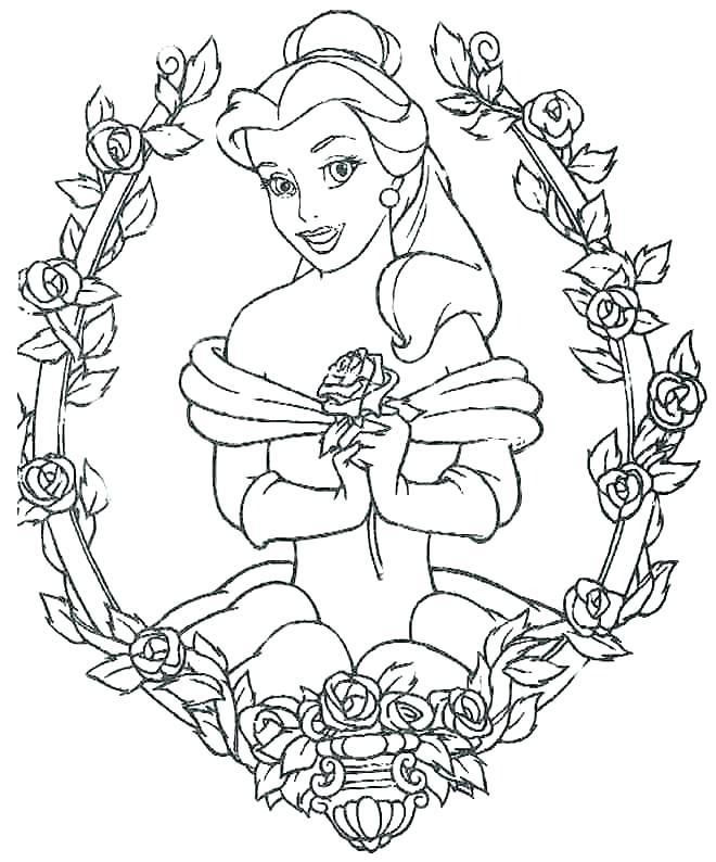 660x794 Full Page Disney Princess Coloring Pages Belle Packed Colouring