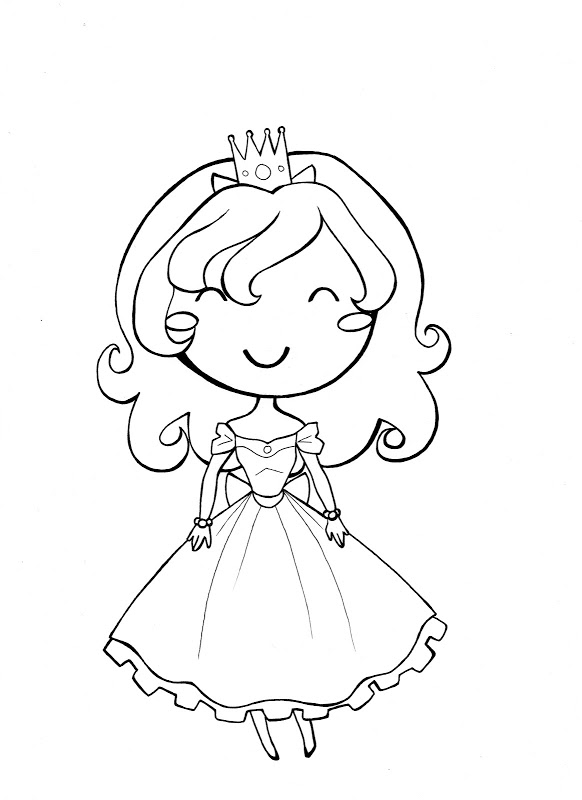 582x800 Little Girl Coloring Pages
