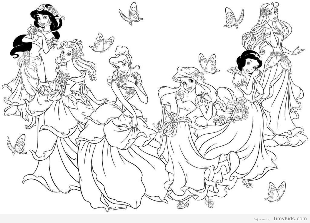 1024x736 Princess Coloring Pages For Girls Timykids