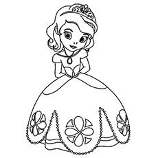 Princess Coloring Pages Easy