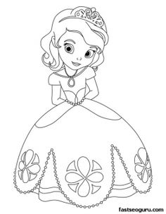 236x304 Printable Cute Princess Sofia Coloring Pages For Girls