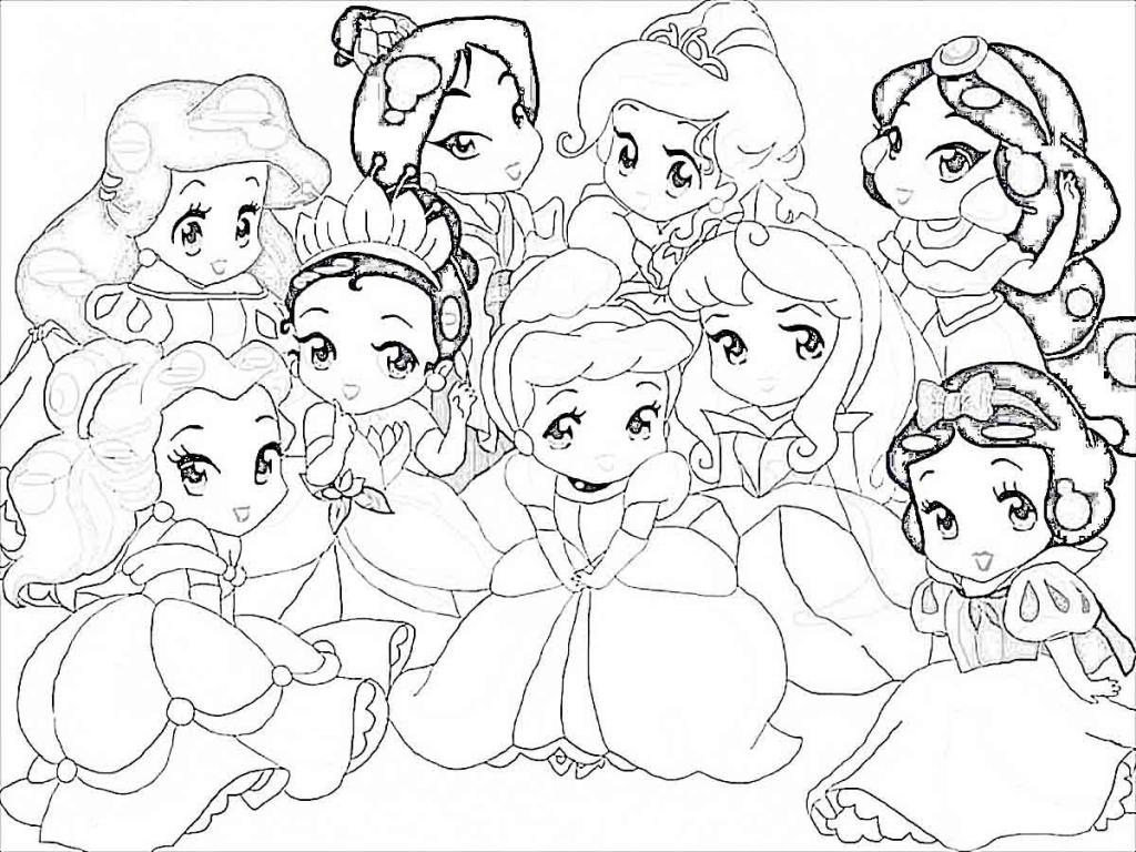 1024x768 Baby Disney Princess Coloring Pages C Depetta And Color