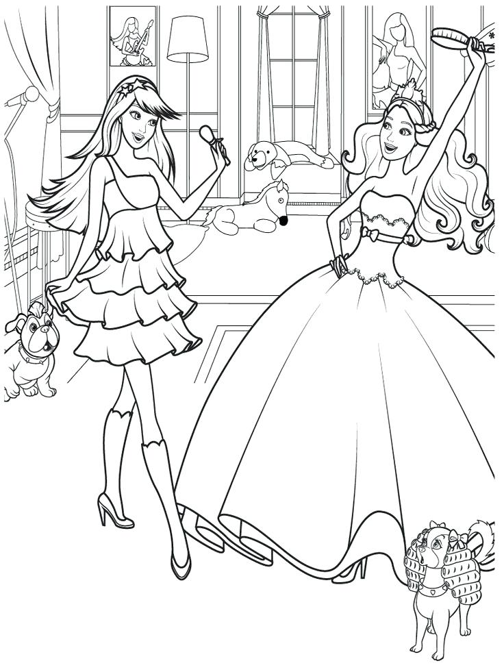 736x981 Barbie Princess Coloring Pages For Girls Color Bros Free Coloring