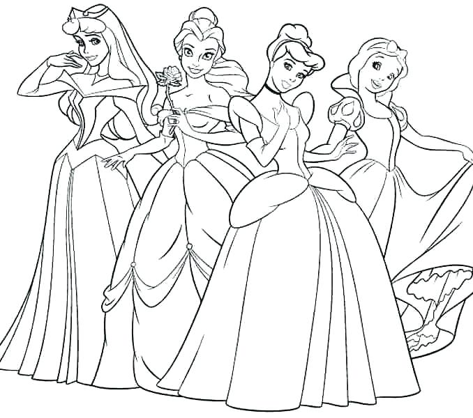 Princess Coloring Pages For Kids At Getdrawings Com Free For