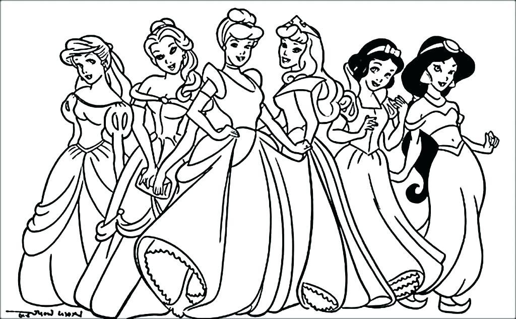 1024x633 Disney Princess Coloring Page Disney Princess Coloring Pages Pdf