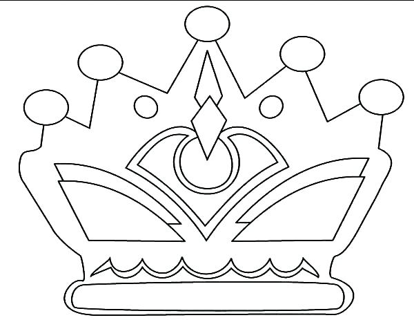 600x463 Crown Printable Template Pdf Crown Coloring Page Drawing Crown