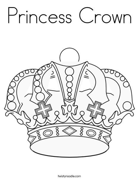 468x605 Princess Crown Coloring Page