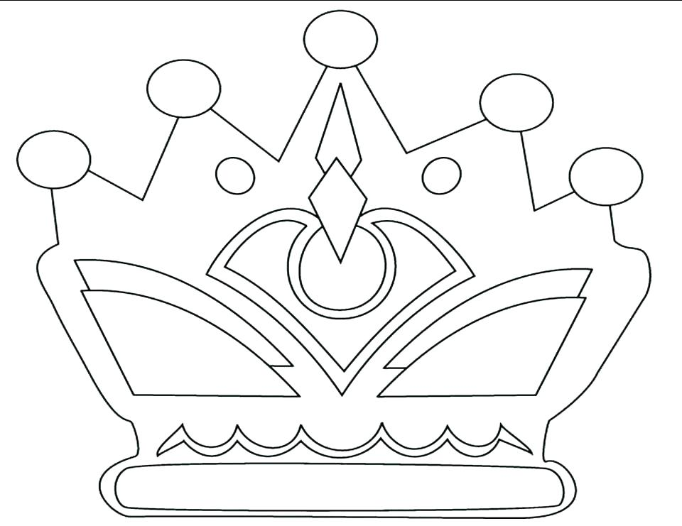 960x741 Princess Crown Coloring Page Hand Made Princess Crown Coloring