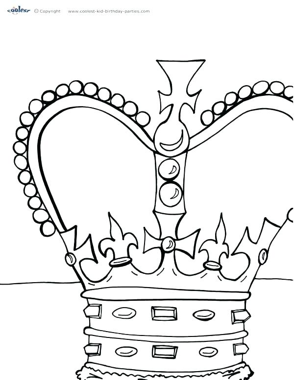 600x777 Princess Crown Coloring Page King And Queen Crown Coloring Pages
